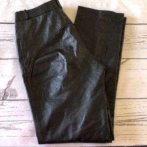 """BEGED-OR black LEATHER moto PANTS ISREAL sz12 28"""""""
